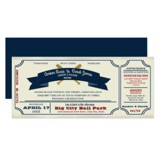 Vintage Baseball Wedding Card