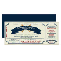 Vintage Baseball Wedding Invitation