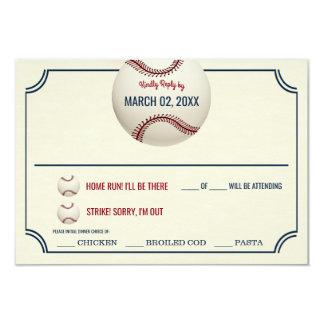 Vintage Baseball Wedding Response Card