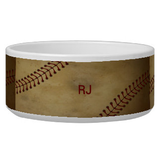 Vintage Baseball with Customize Bowl