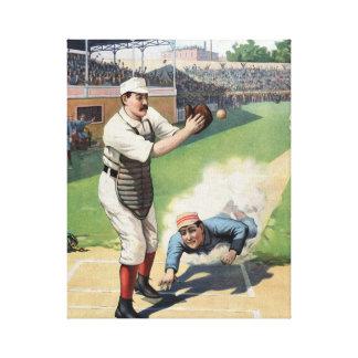 Vintage Baseball Wrapped Canvas