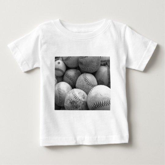 Vintage Baseballs in Black and White Baby T-Shirt