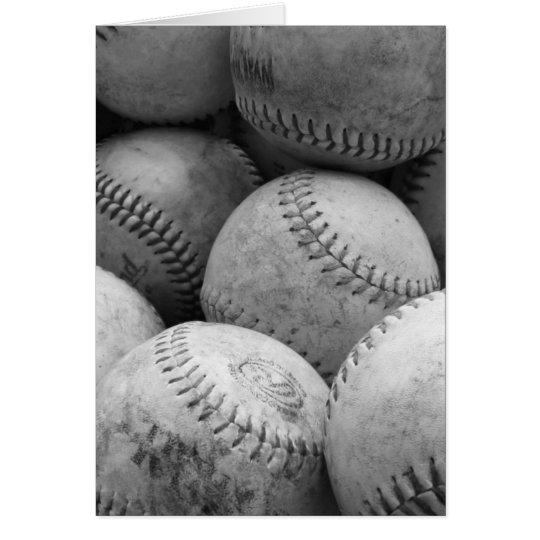 Vintage Baseballs in Black and White Card