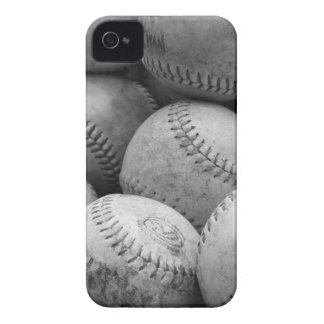 Vintage Baseballs in Black and White iPhone 4 Cases