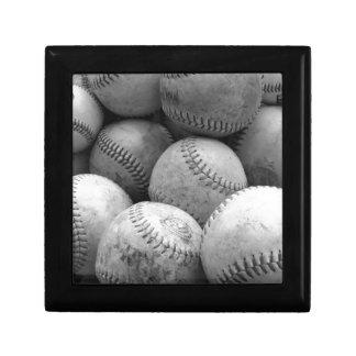 Vintage Baseballs in Black and White Gift Box