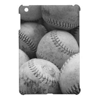 Vintage Baseballs in Black and White iPad Mini Covers