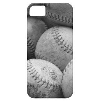 Vintage Baseballs in Black and White iPhone SE/5/5s Case