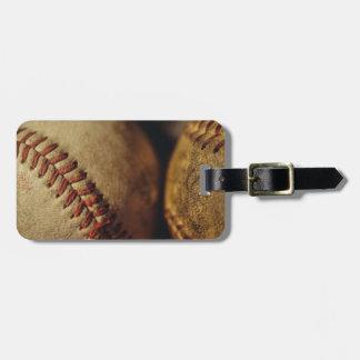 Vintage Baseballs Luggage Tag
