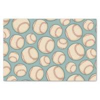Vintage Baseballs Pattern