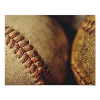 Vintage Baseballs Photo Print
