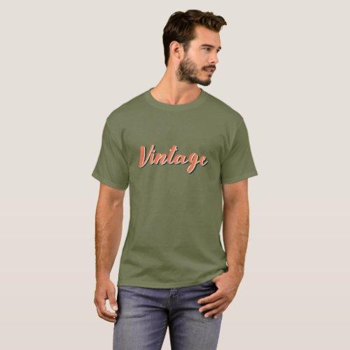 Vintage  Basic Dark T_Shirt