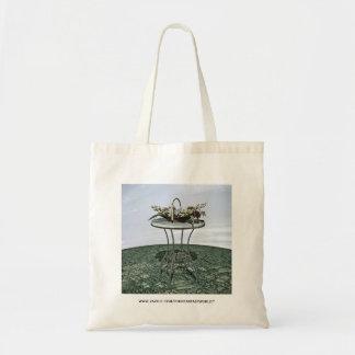 Vintage Basket of Flowers Tote Bag
