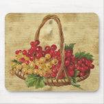 Vintage Basket of Grapes Mousepad
