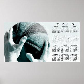 Vintage Basketball 2015 Wall Calendar Poster