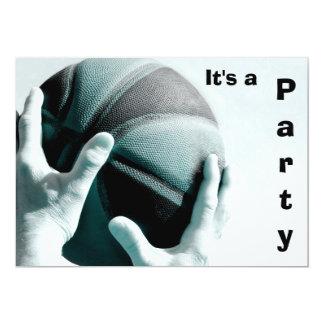 Vintage Basketball Birthday Party 5x7 Paper Invitation Card