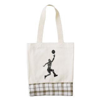 Vintage Basketball Layup Zazzle HEART Tote Bag