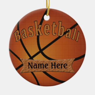 Vintage Basketball Ornament with YOUR NAME