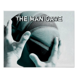 Vintage Basketball THE MAN CAVE Poster
