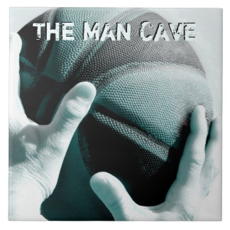 Vintage Basketball THE MAN CAVE Tile