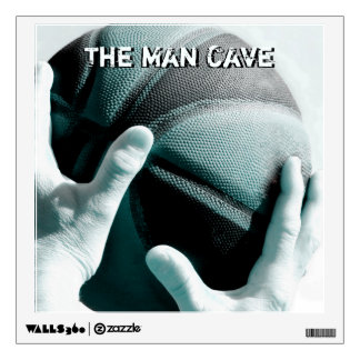 Vintage Basketball THE MAN CAVE Wall Sticker
