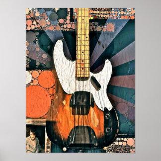 Vintage Bass Poster