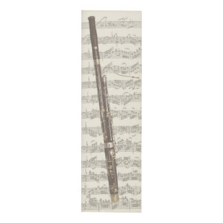Vintage Bassoon on Manuscript Bach Second Suite Panel Wall Art