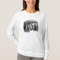Vintage Bat 1800s Flying Fox Bat T-Shirt