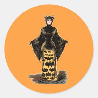 Vintage Bat Costume Sticker
