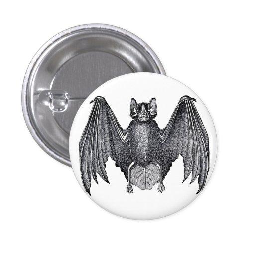 Vintage Bat Goth Button Pin