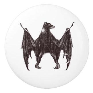 Vintage Bat Illustration Ceramic Knob