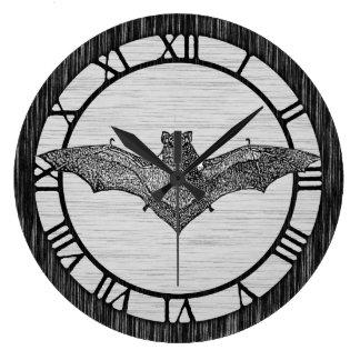 Vintage Bat Illustration Large Clock