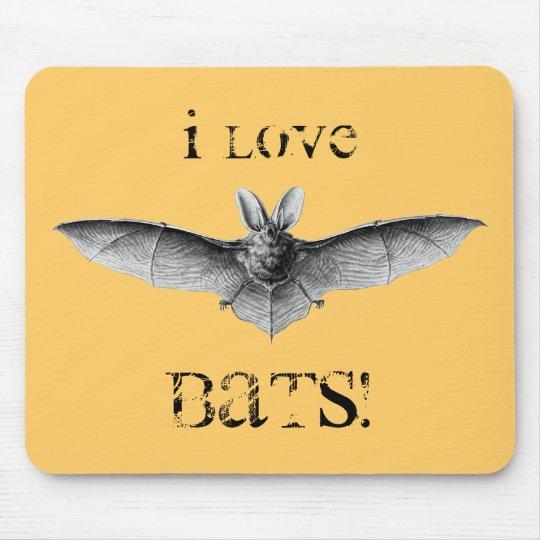 Vintage Bat Illustration Mouse Pad