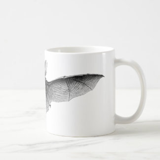 Vintage Bat Illustration Classic White Coffee Mug