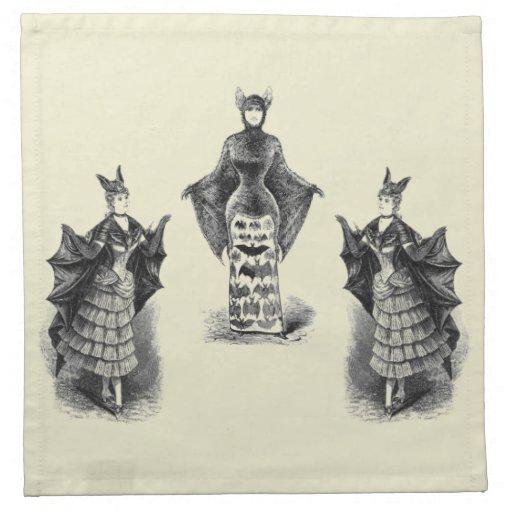 Vintage Bat Ladies Cloth Napkin