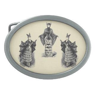 Vintage Bat Ladies Oval Belt Buckle