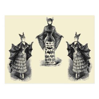 Vintage Bat Ladies Postcard