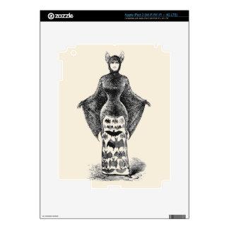 Vintage Bat Lady Decals For iPad 3