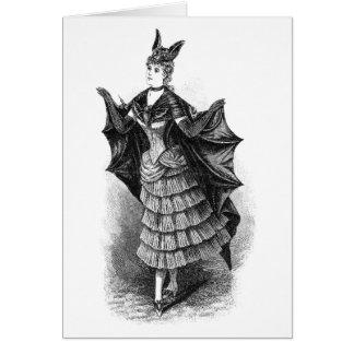 Vintage Bat Lady Greeting Card