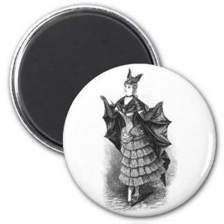 Vintage Bat Lady Magnet