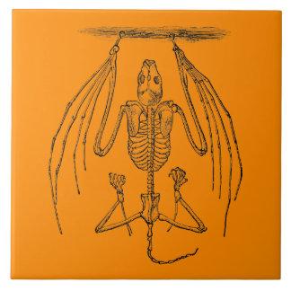 Vintage Bat Skeleton- Bats and Halloween Template Tile