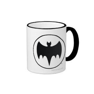 Vintage Bat Symbol Ringer Coffee Mug