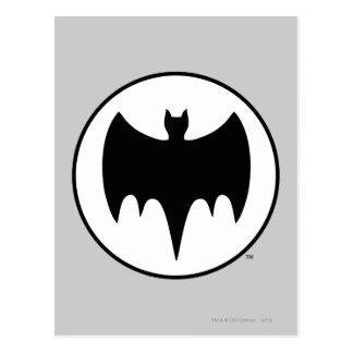 Vintage Bat Symbol Postcard