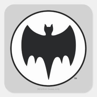 Vintage Bat Symbol Square Sticker