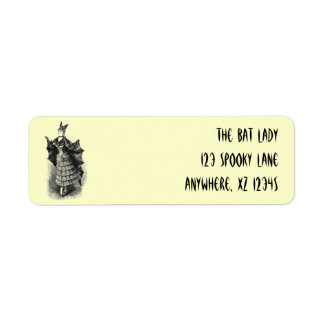 Vintage Bat Woman Custom Return Address Label