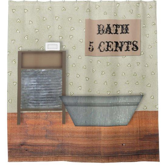 Vintage Bath Shower Curtain