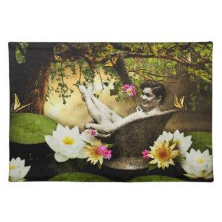 Vintage Bathgirl Placemats Cloth Placemat