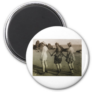 Vintage Bathing Beauties 2 Inch Round Magnet