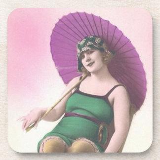 Vintage Bathing Beauties Beverage Coaster