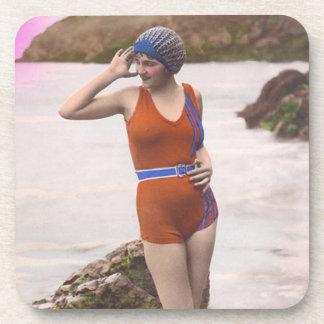 Vintage Bathing Beauties Drink Coaster