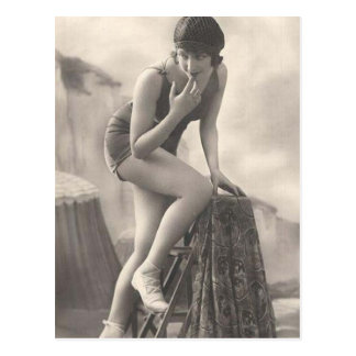 Vintage Bathing Beauty Flapper Girl Portraits Postcards